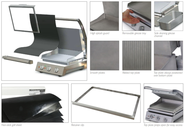 Roband - GSA610R 6 Slice Grill | Roband Grill | Grill Station